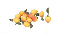 DOLLHOUSE MINIATURE 12PC PEACHES SET #RR0234 - $3.20