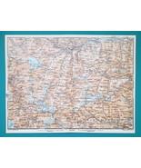 1931 BAEDEKER MAP - Italy GRAN PARADISO AOSTA VAL D'ISERE & Environs + R... - $11.52