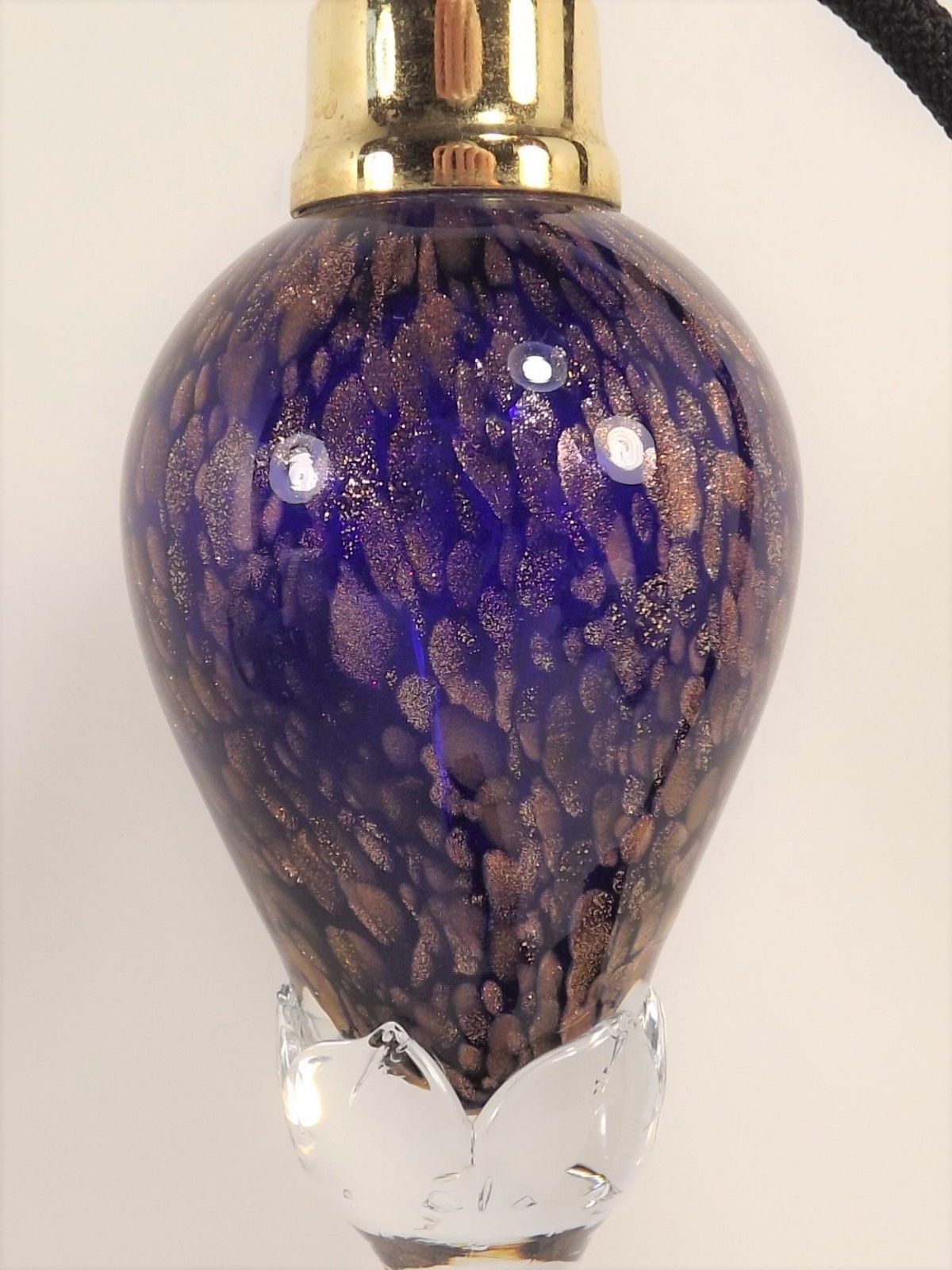 Cobalt Perfume Pedestal Bottle Art Glass and 18 similar items
