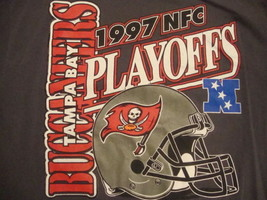 Vintage 90's NFL Tampa Bay Buccaneers National Football 1997 T Shirt XL  - $14.84