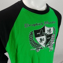 Dropkick Murphys Men Green Black Raglan T Shirt Baseball Hot Topic Sz 2XL - $74.99