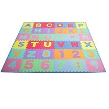 Kids Soft Foam Puzzle Mat Alphabet Numbers 36 Tiles & Edges Interlocking... - $840,52 MXN