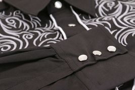 Men's Western Rodeo Style Cowboy Embroidered Tribal Print Dress Shirt image 5