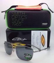 Nuovo Polarizzato Smith Optics Occhiali da Sole Nomad Argento con / Chromapop