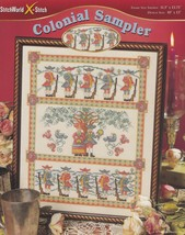 Colonial Sampler StitchWorld Cross Stitch Pattern 03-215 Wedding Alphabe... - $4.95