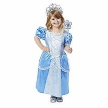 Melissa & Doug Royal Princess Role Play Costume Set (3 pcs) - Blue Gown, Tiara,  - $29.00