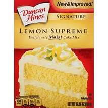 Duncan Hines Signature Cake Mix, Lemon Supreme, 15.25 Ounce image 1