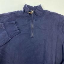Polo Ralph Lauren Quarter Zip Sweater Men's Large Long Sleeve Navy Cotto... - $19.99