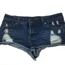 Forever 21 Women's Mini Cut Off Destroyed Shorts Size 27 Distressed Raw Hem - $23.71