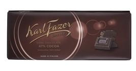 Karl Fazer Blue Original Finnish Dark Chocolate 47% Cocoa Bar - $21.37