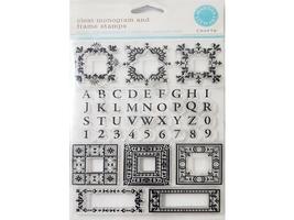 Martha Stewart Crafts Clear Monogram and Frame Stamps #331023