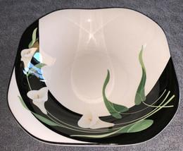 """Vintage Sango Quadrille, Black Lilies, 9"""" Square Serving Bowl 5101 Retired - $29.90"""