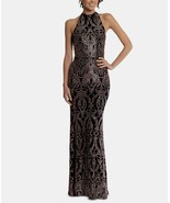 Betsy & Adam Halter Glitter Gown Black/Rose Size 2 $189 - $85.49