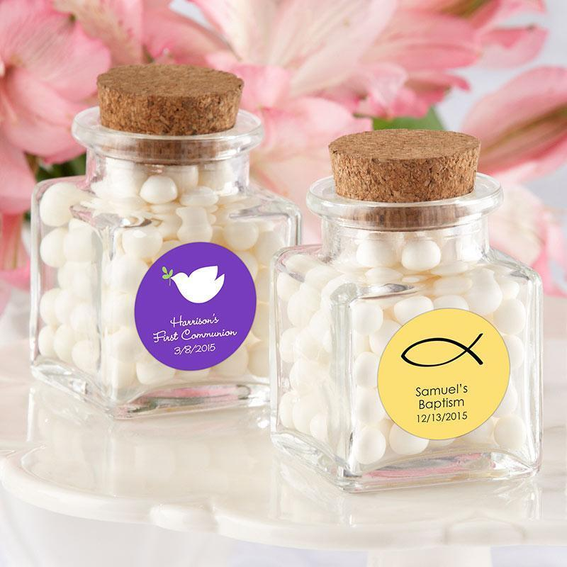 inch Petite Treat inch  Square Glass Favor Jar - Religious (Set of 12) (Availab - $24.99