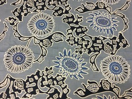Quadrille China Seas Navy Blue Flora Print Multi Purpose Fabric 6 yds 44... - $456.00
