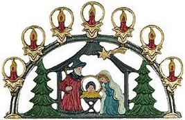 Nativity Arch German Pewter Christmas Ornament - $41.51