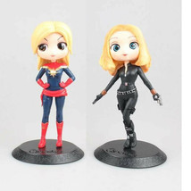 """5.5"""" PVC Cute Doll Captain Marvel and Black Widow Toys Action Figures fo... - $24.99+"""