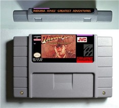 Indiana Jones' Greatest Adventures 1994 SNES Super Nintendo 16 NTSC US V... - $25.71