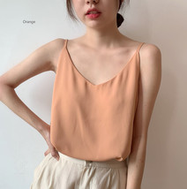 Women Summer Chiffon Tops V-Neck Chiffon Tanks Summer Wedding Bridesmaid Tops