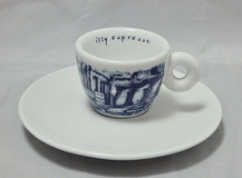 illy Espresso Cup and Saucer Blue and White Pattern - $12.87
