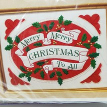 Creative Circle Christmas Needlework Kit 2325 Merry to All Needlepoint 1985 - $14.00