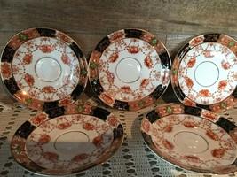 Royal Albert Crown China Saucers Vintage Set of Five - $46.70