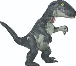Rubies Jurassic World Velociraptor Inflatable Adult Halloween Costume 82... - $116.48