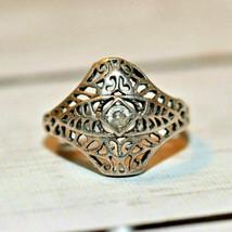 Vintage Signed Avon 925 sterling silver filigree ring size 6.5 - $34.64