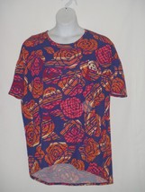 Womens LARGE L Floral Tunic Top LuLaRoe ROSES Floral Shirt  - $18.51