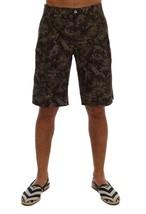 New $480 Dolce & Gabbana Men Black Green Cotton Military Pattern Shorts ... - $170.94