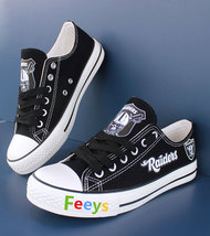 raiders shoes women converse style raiders sneakers oakland fans birthday gifts - $56.00