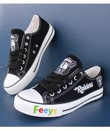 raiders shoes women converse style raiders sneakers oakland fans birthda... - $55.00+