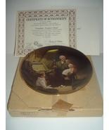 Norman Rockwell Grandpa's Treasure Chest Plate Light Campaign Series Box... - $15.99