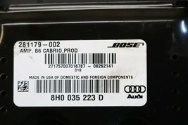 Audi A4 B6 Cabrio BOSE Amplifier Amp Stereo Receiver Audio 281179-002 image 4