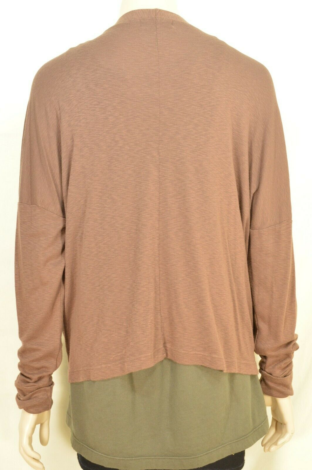 Michael Stars sweater OSFM brown cardigan dropped shoulders lightweight fall USA image 3