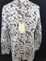 Smash Men Shirt Paisley Blue Long Sleeve Button Up Down MSRP $99.99 Medi... - $27.76