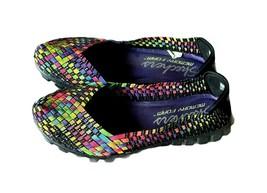 Skechers Shoes Rainbow EZ Flex Yes Please Slip On Casual Shoes SZ 9 Colo... - $23.08