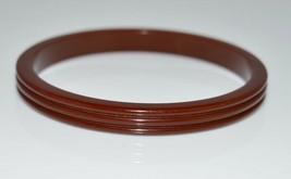 VTG Brown Carved BAKELITE TESTED Bangle Bracelet - $198.00