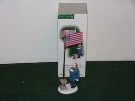 "Dept. 56.58986 Christmas In The City ""Raising The Flag In The City""-MIB - $13.85"