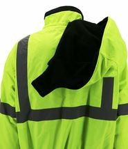 Men's Class 3 Safety High Visibility Water Resistant  Work Jacket w/ Defects 4XL image 3
