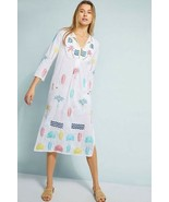 New Anthropologie Cleopatra Embroidered Cover-Up Dress by Karma Beach $3... - $100.98
