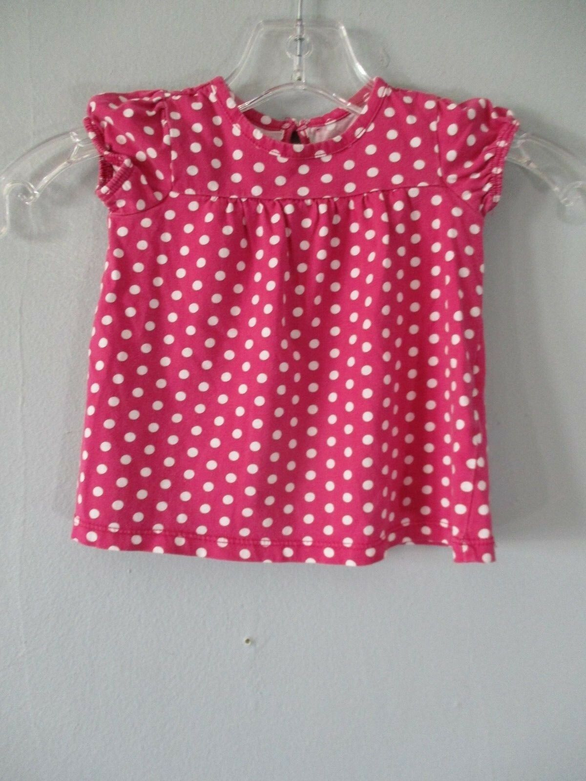 Primary image for Children's Place Baby Girl's Size 0-3 Months 100% Cotton Pink Polka Dotted Dress