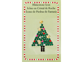 International Greetings Rhinestone Icon Christmas Tree Sticker #IG54914