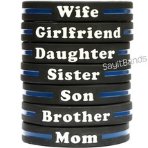 Thin Blue Line Wristband Bracelet - Your Choice of Family Member Police ... - $1.88