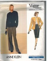 2355 sin Cortar Vogue Patrón de Costura Misses Suelto Ajuste Chaqueta Falda - $8.98