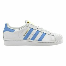 ADIDAS SUPERSTAR FOUNDATION WHITE/LIGHT BLUE MEN SIZE 8 BY3716 NEW IN BOX - $74.79