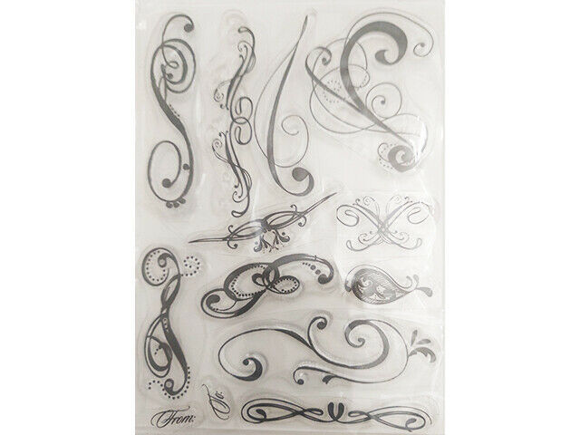 Various Flourishes Clear Cling Stamp Set