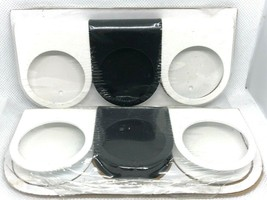 """2 Ikea MOTSTA Packages 6 Metal Candle Holders Black White 1 3/8"""" Diameter New - $11.78"""