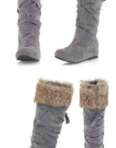 Women's Designer Style Warm Fur Lined Winter Fashion Boots image 4