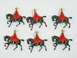 Britains Ltd Toy Soldiers Fifth Dragoon Winter 6 Mounted Horses Lot VTG Redcoats - $48.19
